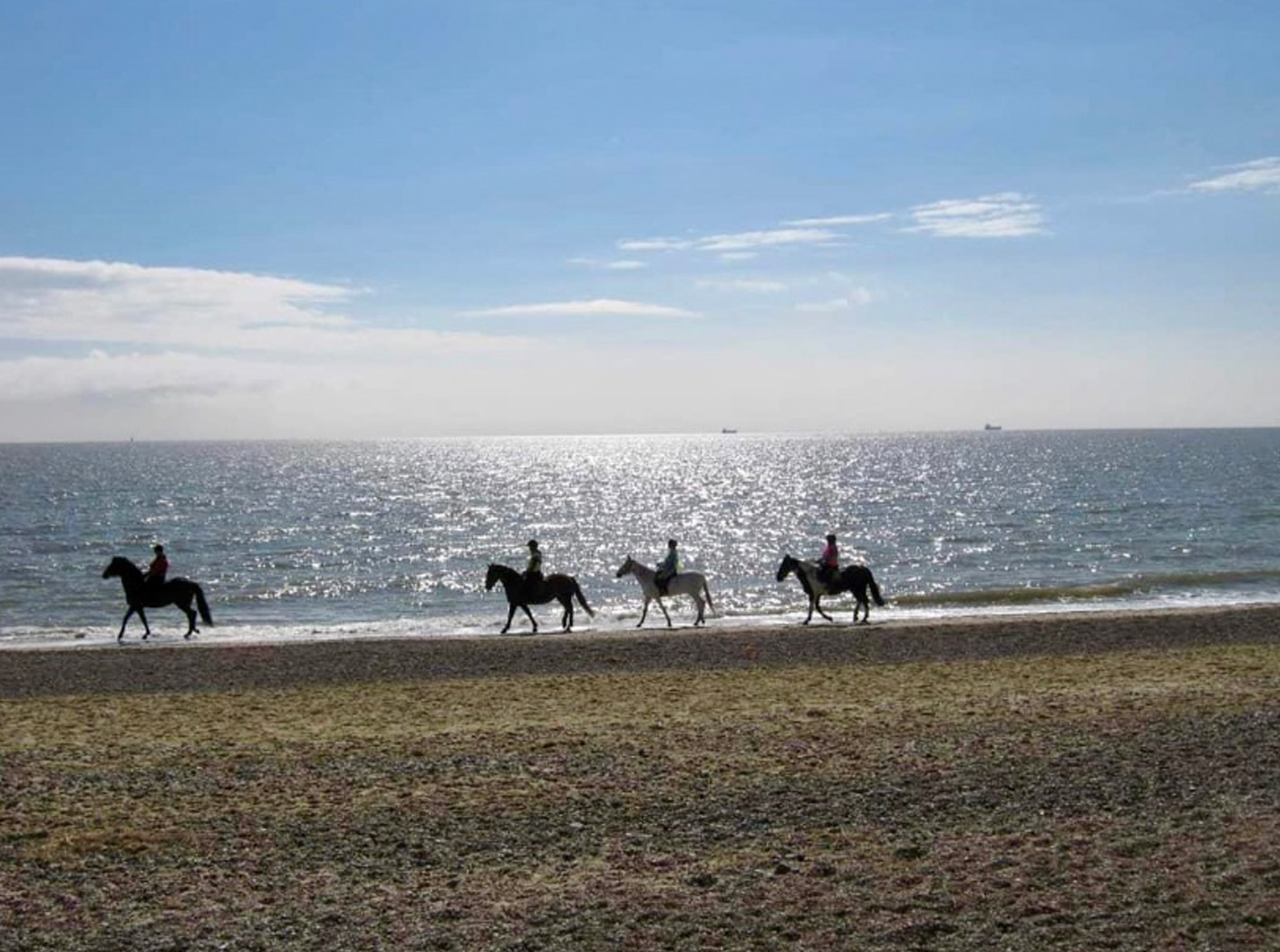 Beach rides at Pakefield Riding School
