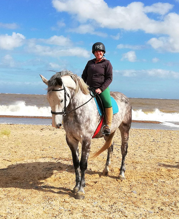 hacking out on pakefield beach